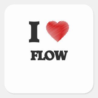I love Flow Square Sticker