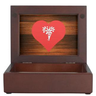 I Love Flower Arrangements Keepsake Box