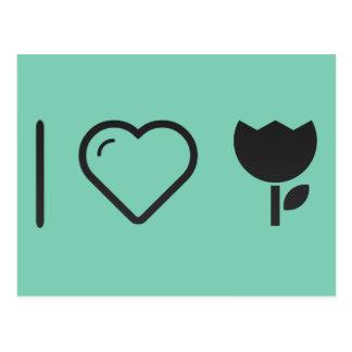 I Love Flower Bowls Postcard