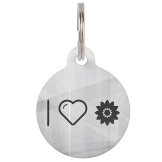 I Love Flower Develops Pet Tags