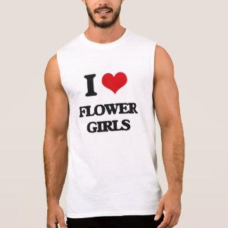 I love Flower Girls Sleeveless Shirts
