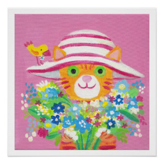 I love flowers  poster 20x20