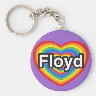 I love Floyd. I love you Floyd. Heart Basic Round Button Keychain