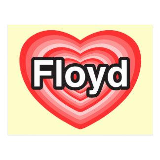 I love Floyd. I love you Floyd. Heart Postcard