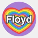 I love Floyd. I love you Floyd. Heart Sticker
