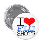 I Love Flu Shots Pinback Button