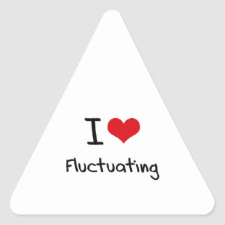 I Love Fluctuating Triangle Stickers