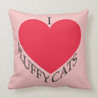 I Love Fluffy Cats Throw Pillow
