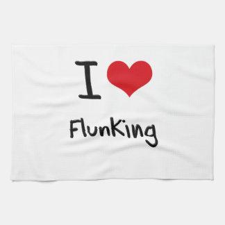 I Love Flunking Hand Towels