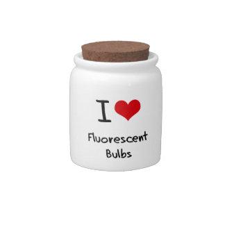 I Love Fluorescent Bulbs Candy Jar