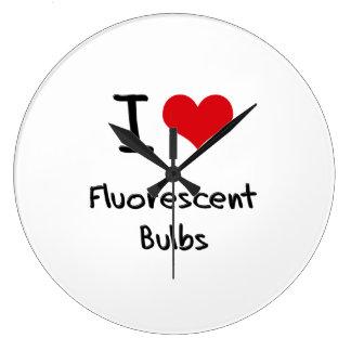 I Love Fluorescent Bulbs Clock