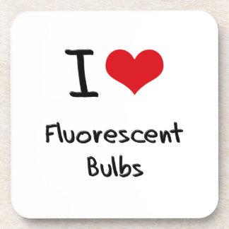 I Love Fluorescent Bulbs Drink Coasters