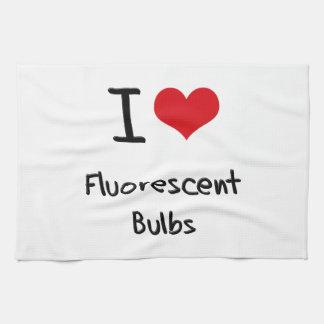 I Love Fluorescent Bulbs Hand Towels