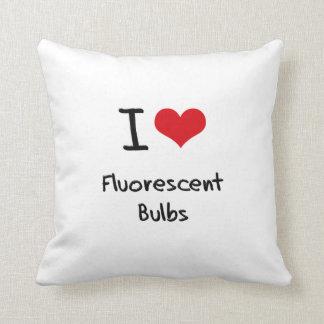 I Love Fluorescent Bulbs Throw Pillows