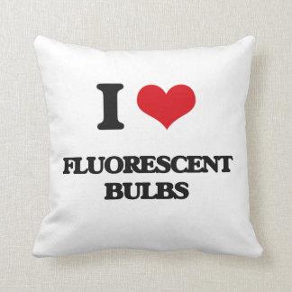 i LOVE fLUORESCENT bULBS Pillows