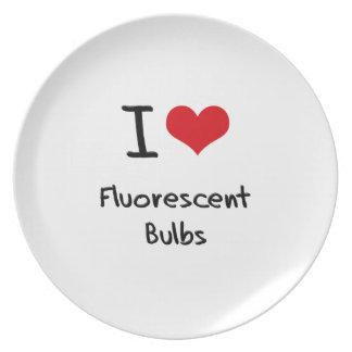 I Love Fluorescent Bulbs Plates