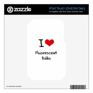 I Love Fluorescent Bulbs Decal For iPod Touch 3G