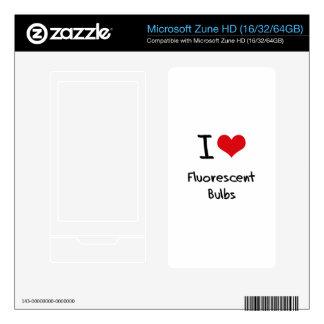 I Love Fluorescent Bulbs Decal For Zune HD