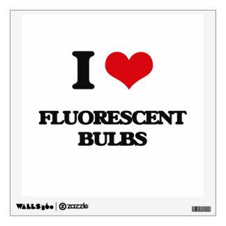 i LOVE fLUORESCENT bULBS Wall Skin