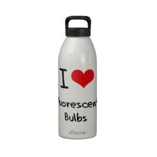 I Love Fluorescent Bulbs Reusable Water Bottle