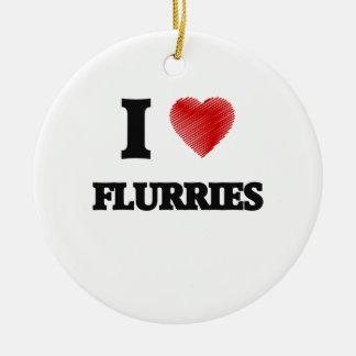 I love Flurries Ceramic Ornament