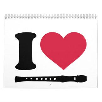 I love Flute Calendar