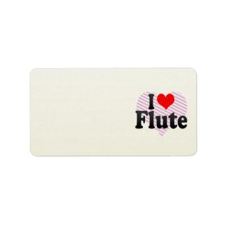 I love Flute Labels