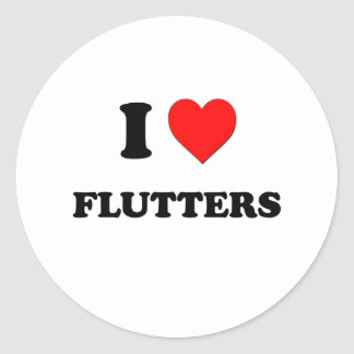 I Love Flutters Sticker