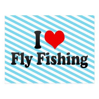 I love Fly Fishing Postcard