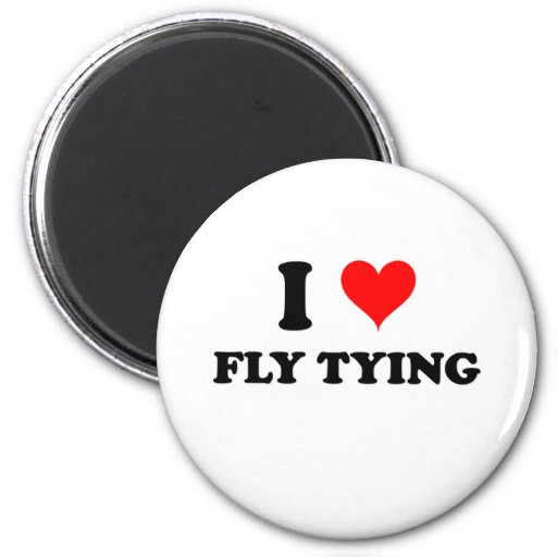 I Love Fly Tying 2 Inch Round Magnet