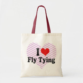 I Love Fly Tying Budget Tote Bag
