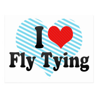 I Love Fly Tying Postcard