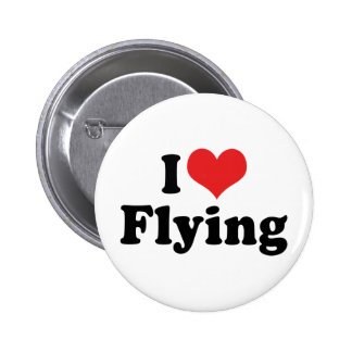 I Love Flying Button
