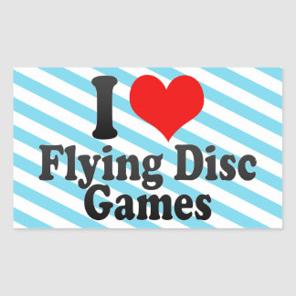I love Flying Disc Games Stickers
