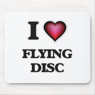 I Love Flying Disc Mouse Pad