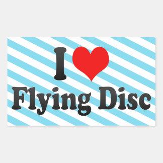 I love Flying Disc Rectangular Stickers