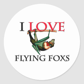 I Love Flying Foxs Classic Round Sticker