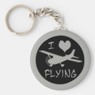 I Love Flying Keychain