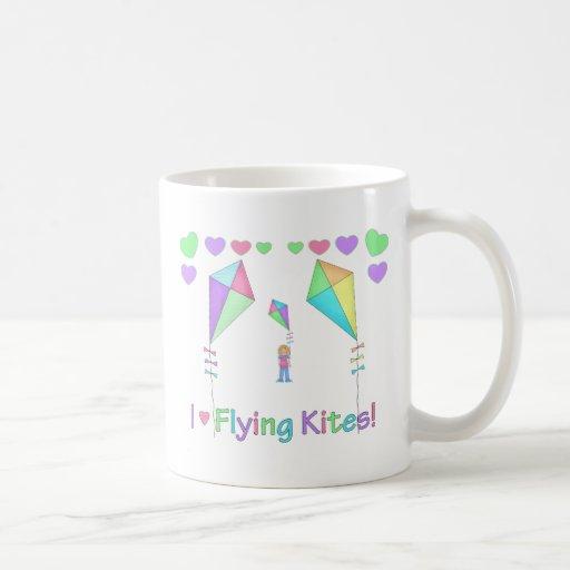 I Love Flying Kites Classic White Coffee Mug