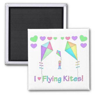 I Love Flying Kites Magnet
