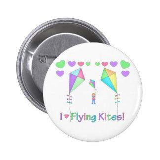 I Love Flying Kites Pinback Button