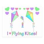 I Love Flying Kites Postcard