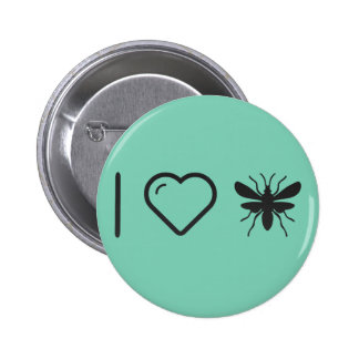 I Love Flying Mosquitos 2 Inch Round Button