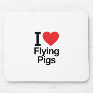 I Love Flying Pigs Mouse Pad