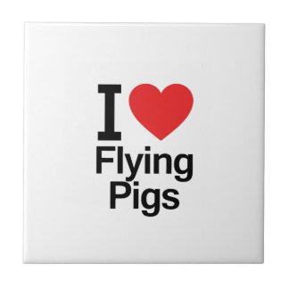 I Love Flying Pigs Tile