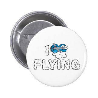 I Love Flying Pinback Button
