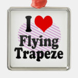 I love Flying Trapeze Christmas Tree Ornament