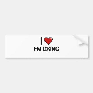 I Love Fm Dxing Digital Retro Design Car Bumper Sticker