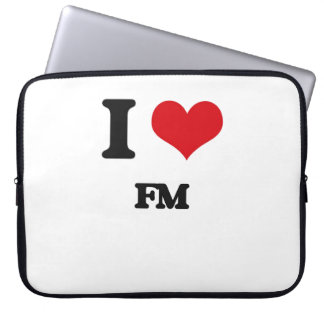 i LOVE fM Laptop Computer Sleeves