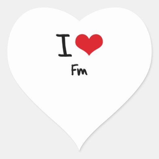I Love Fm Stickers